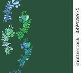 seamless pattern  doodles  ... | Shutterstock .eps vector #389428975