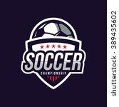 soccer logos  american logo... | Shutterstock .eps vector #389435602