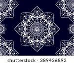geometric ethnic pattern ... | Shutterstock .eps vector #389436892