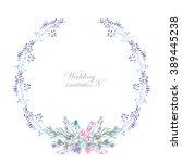 a frame  wreath  frame border... | Shutterstock . vector #389445238
