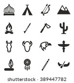 native american icons | Shutterstock .eps vector #389447782