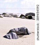 Sunny Beach Scene With...