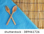 Bamboo Mat  Background With...
