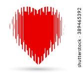 red heart. | Shutterstock .eps vector #389465392
