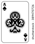 ace of clubs | Shutterstock .eps vector #389470726