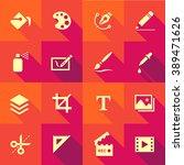 vector flat icon set   design... | Shutterstock .eps vector #389471626