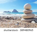 Balanced Stones On The Beach Of ...