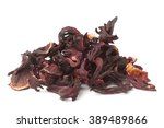 Dried Hibiscus Calyces On Whit...