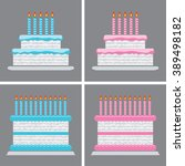 vector collection of birthday...   Shutterstock .eps vector #389498182