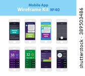 mobile wireframe app ui kit 40. ...