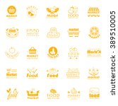 food and market icons set... | Shutterstock .eps vector #389510005