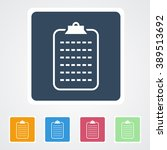 square flat buttons icon of... | Shutterstock .eps vector #389513692