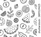 fruit seamless pattern.... | Shutterstock .eps vector #389519425