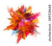 explosion of colored powder on... | Shutterstock . vector #389528668