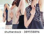 women practice yoga. yoga... | Shutterstock . vector #389558896