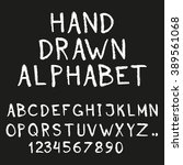 alphabet. hand drawn letters... | Shutterstock . vector #389561068