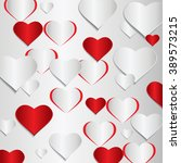 red and gray heart valentine... | Shutterstock .eps vector #389573215