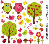 vector set of nature. love... | Shutterstock .eps vector #389578156