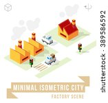 set of isolated isometric... | Shutterstock .eps vector #389586592