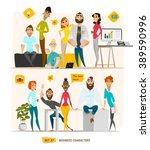 business characters scene.... | Shutterstock .eps vector #389590996