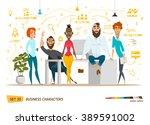 business characters scene.... | Shutterstock .eps vector #389591002