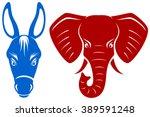 vector illustration of a blue... | Shutterstock .eps vector #389591248