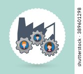 human resources icon design  | Shutterstock .eps vector #389601298