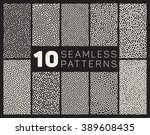 set of ten vector seamless...   Shutterstock .eps vector #389608435