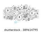 flat style  thin line art... | Shutterstock .eps vector #389614795