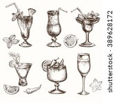 cocktail set. elements for the... | Shutterstock .eps vector #389628172