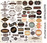 Stock vector collection or mega set of vintage vector labels best and premium quality 389636098