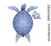 Graphic Hawksbill Sea Turtle...
