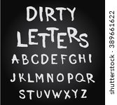 uppercase hand drawn letters. ... | Shutterstock .eps vector #389661622