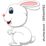 illustration of cute rabbit... | Shutterstock .eps vector #389664982
