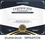 elegant blue certificate vector