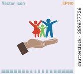 family life insurance sign icon.... | Shutterstock .eps vector #389677726