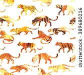 seamless exotic pattern with...   Shutterstock .eps vector #389680216