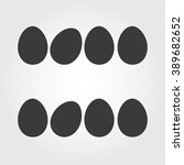 easter eggs vector icons flat... | Shutterstock .eps vector #389682652