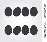 easter eggs vector icons flat... | Shutterstock .eps vector #389682652