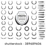 crest logo element set set of ... | Shutterstock .eps vector #389689606