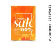 summer sale vector | Shutterstock .eps vector #389690686
