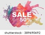 summer sale vector | Shutterstock .eps vector #389690692