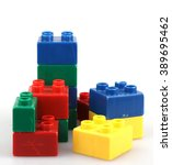 plastic building blocks | Shutterstock . vector #389695462