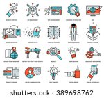 thin line icons set. business... | Shutterstock .eps vector #389698762