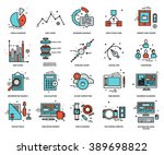 thin line icons set. business... | Shutterstock .eps vector #389698822