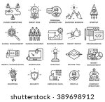 thin line icons set. business... | Shutterstock .eps vector #389698912