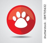 dog paw icon. button  label and ...