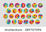 letters colorful logotypes in... | Shutterstock .eps vector #389707096