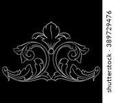vintage baroque frame scroll... | Shutterstock .eps vector #389729476
