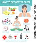 how to get better sleep  tips...   Shutterstock .eps vector #389734582